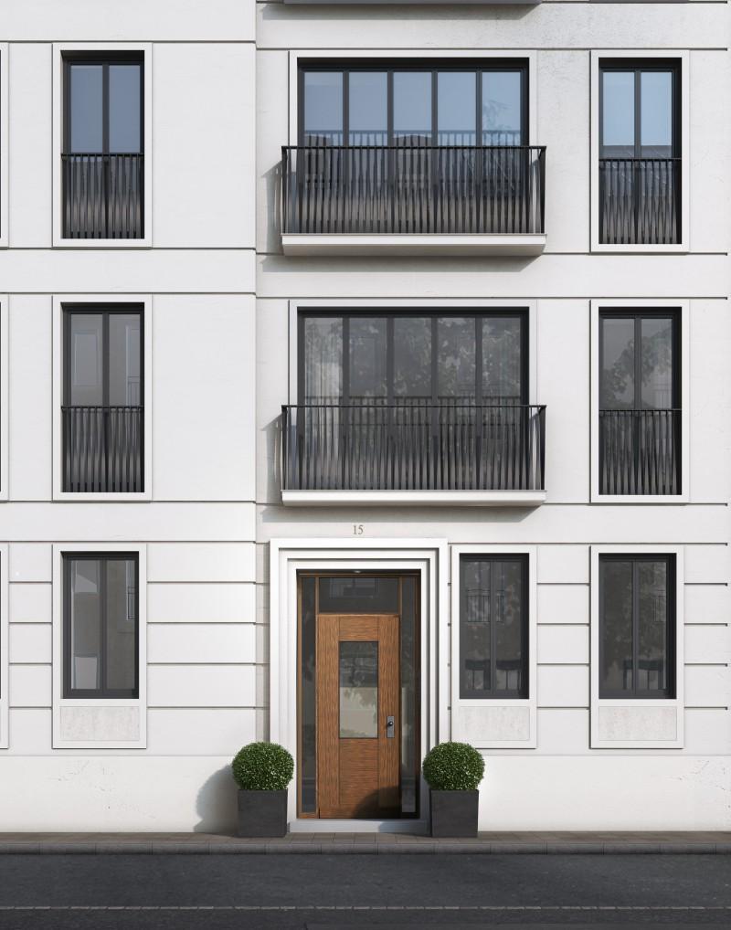 Der Eingang liefert Bewohnern und Besuchern den ersten Eindruck und ist die Visitenkarte eines jedes Hauses.  Massive Rahmenholztüren mit hochwertigen Beschlägen garantieren Sicherheit.
